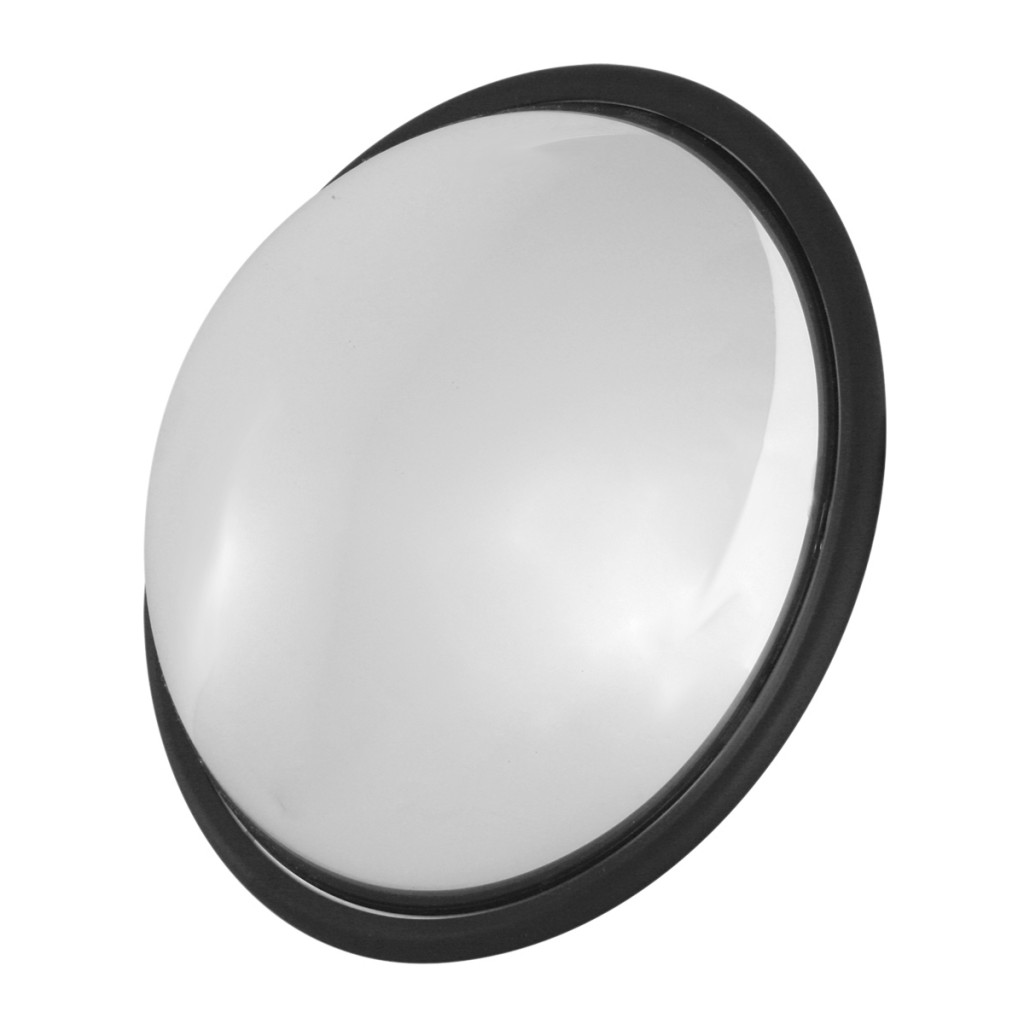 wide angle view stainless steel convex blind spot mirror. Black Bedroom Furniture Sets. Home Design Ideas