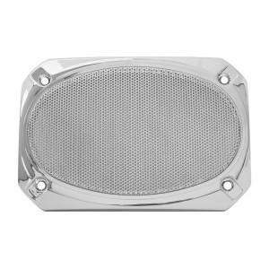 Rectangular Speaker Cover W Chrome Screen For Peterbilt