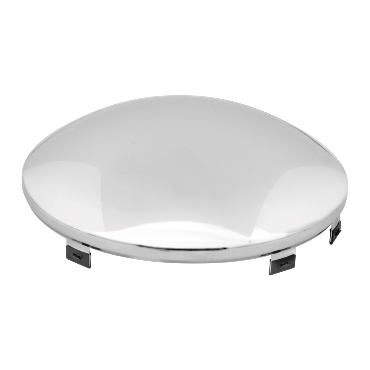 Chrome Plated Universal Standard Front Hub Cap - Top View