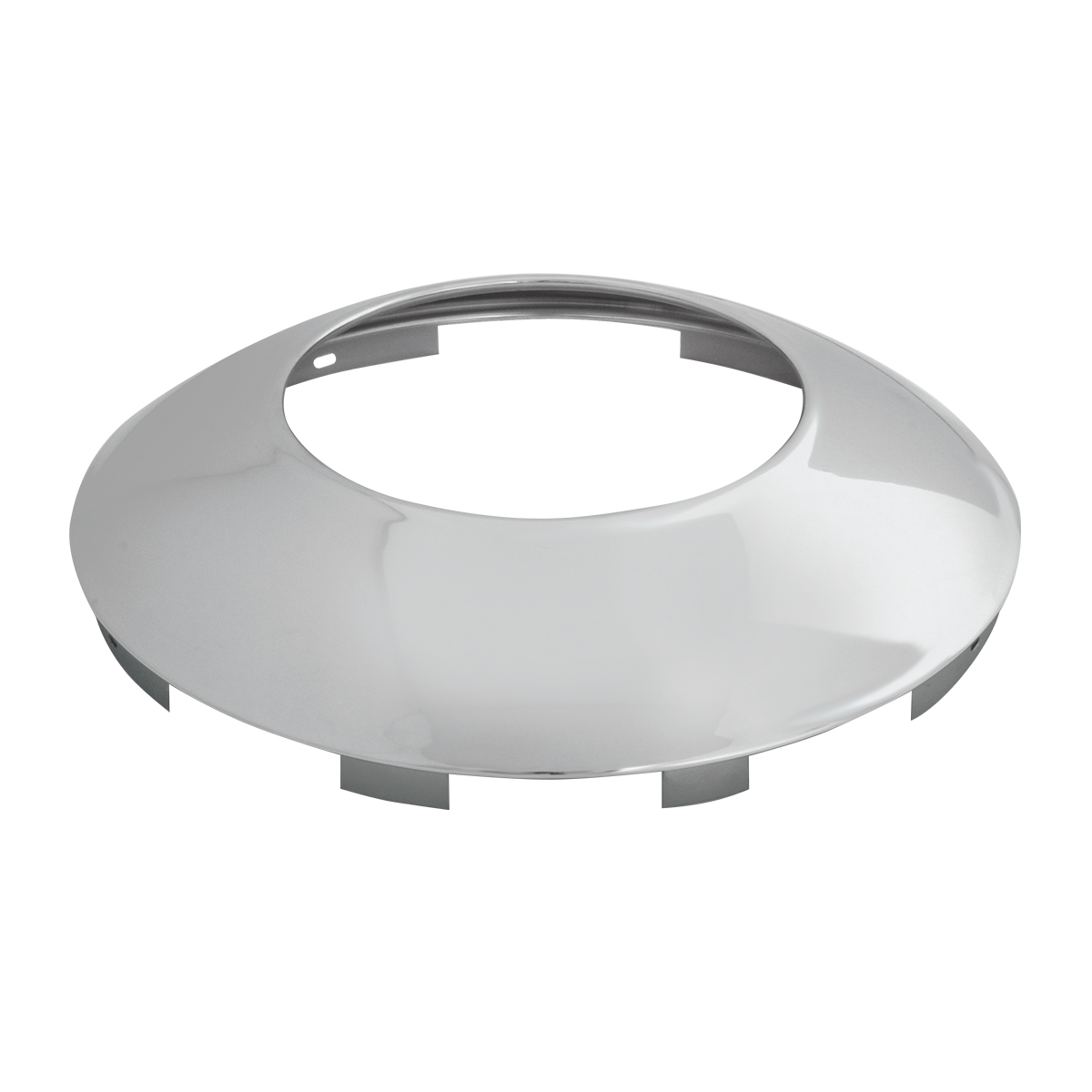"Chrome Plated ⁷∕₁₆"" Universal Front Notched Hubdometer Cap"