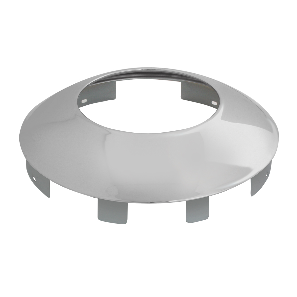 "Chrome Plated 1"" Universal Front Notched Hubdometer Cap"