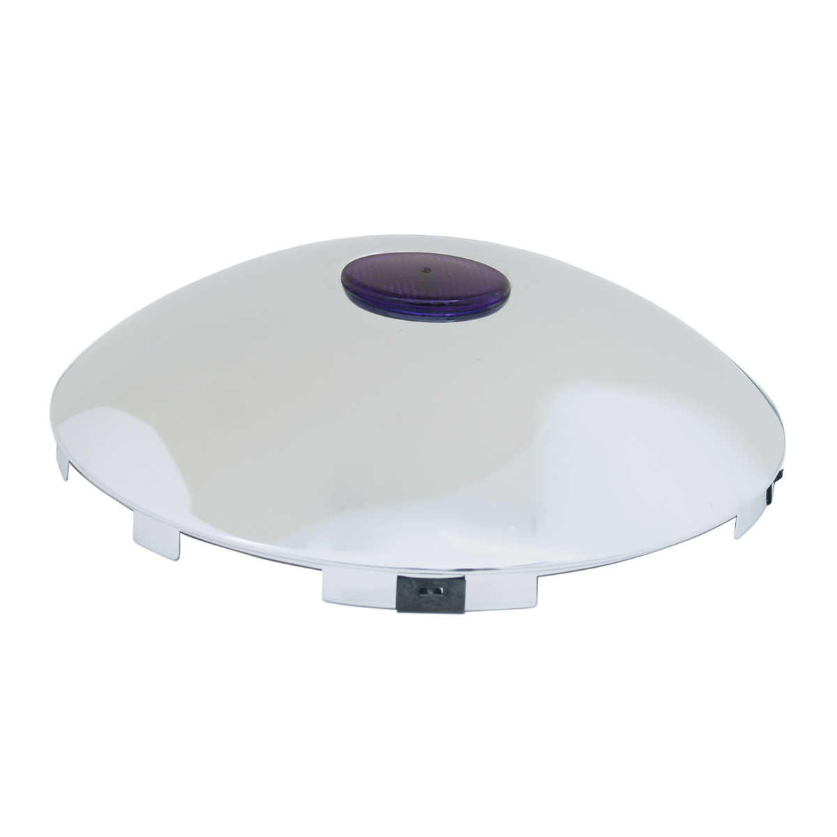 """#10793 Universal 1"""" Front Hub Caps with 2"""" Top Mounted Purple Reflector"""