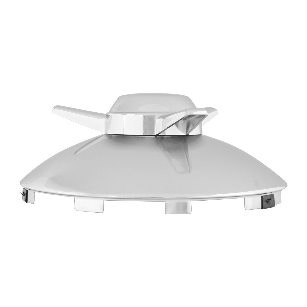 """Universal ⁷∕₁₆"""" Front Hub Caps Notched with L/H Swept Wing Spinner - Side View"""
