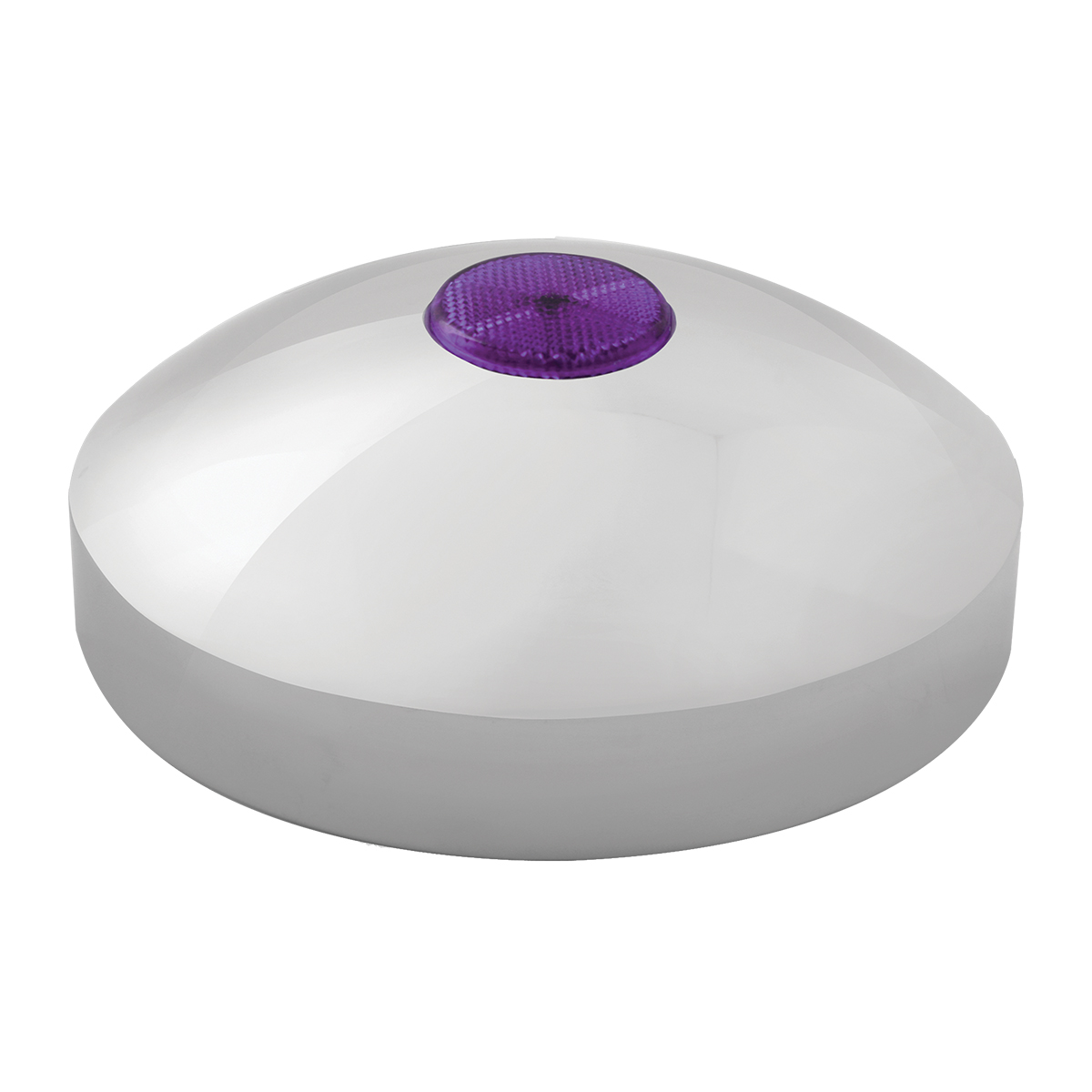 "7 ¼"" Rear Hub Cap with 2"" Top Mounted Purple Reflector"