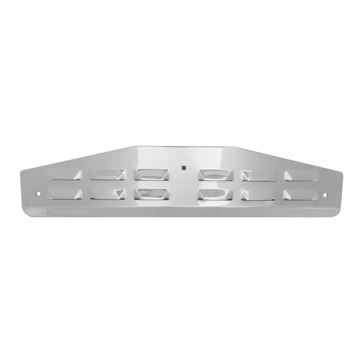"Chrome Plated Steel ""V"" Bent Louver Style Bottom Mud Flap Plate w/o Backing Plate"