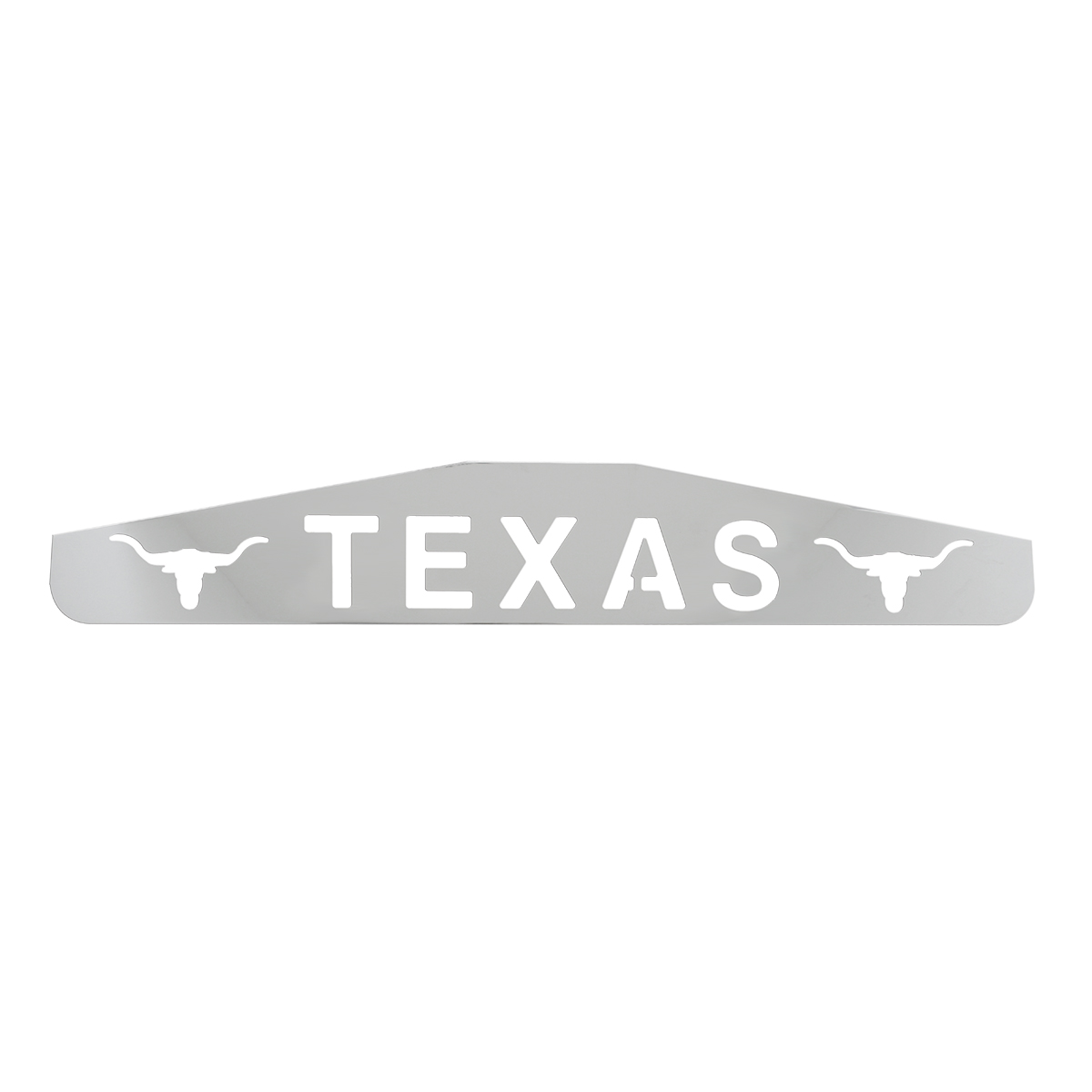 """Bottom Maud Flap Plate with """"Texas with Longhorns"""" Script"""