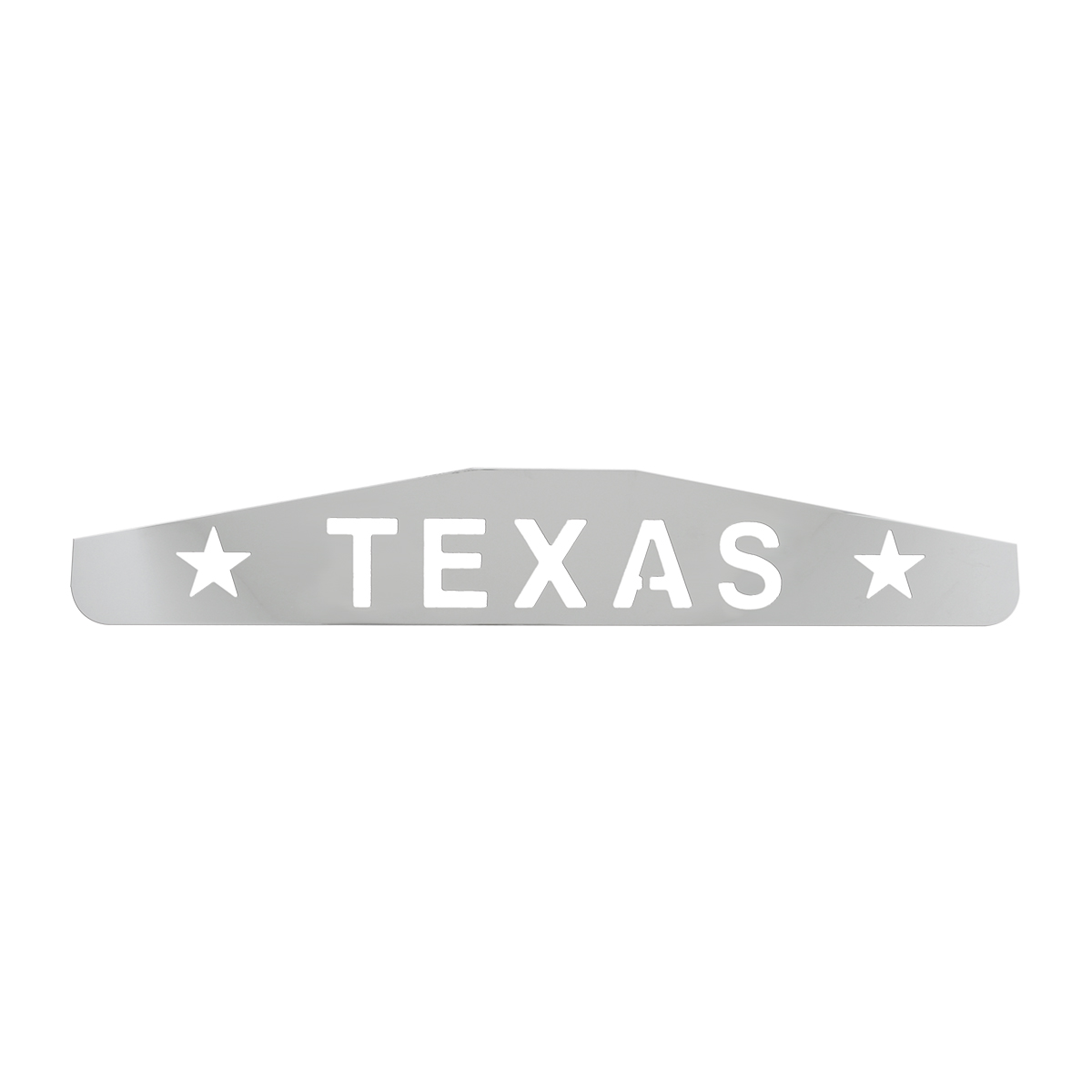 """Bottom Maud Flap Plate with """"Texas with Stars"""" Script"""
