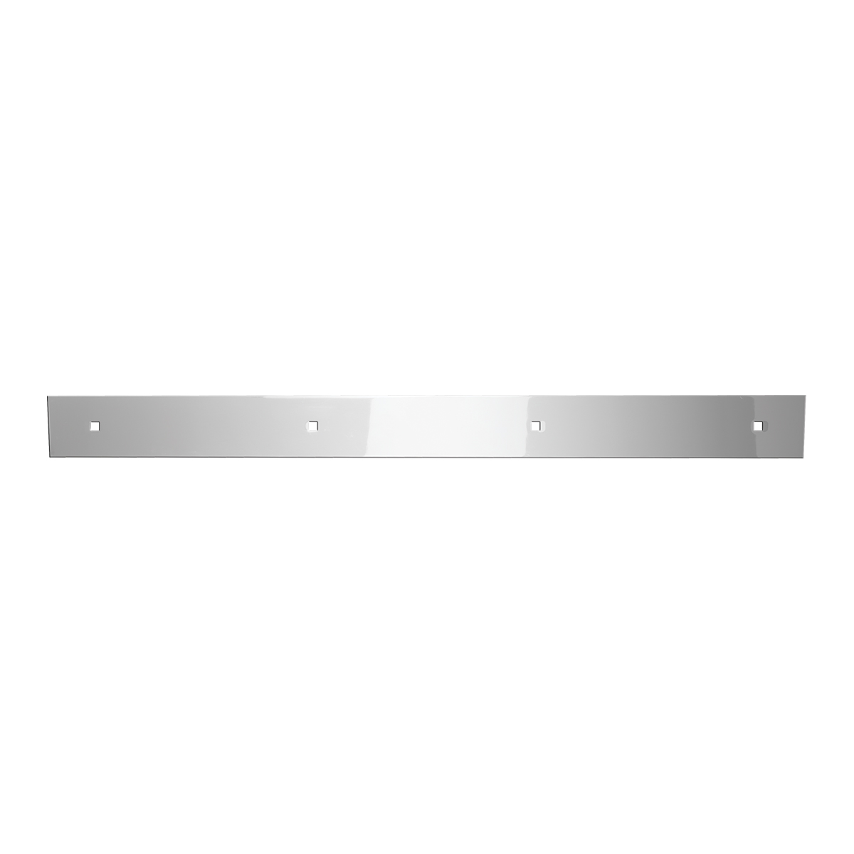 Chrome Plated Top Mud Flap Plates with 4 Holes