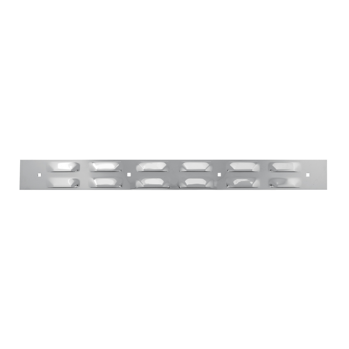 Chrome Plated Top Mud Flap Louver Style Plate with 4 Holes