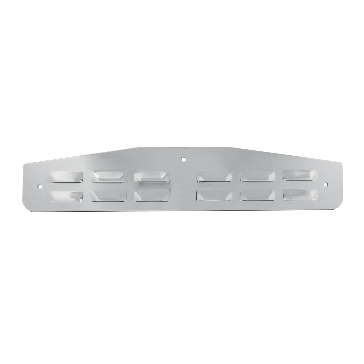 Chrome Plated Steel Flat Louver Style Bottom Mud Flap Plate w/Backing Plate