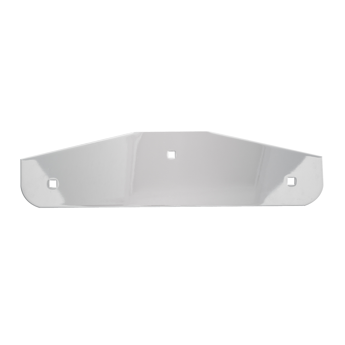 Chrome Plated Steel Flat Louver Style Bottom Mud Flap Plate w/Backing Plate – Backing Plate View