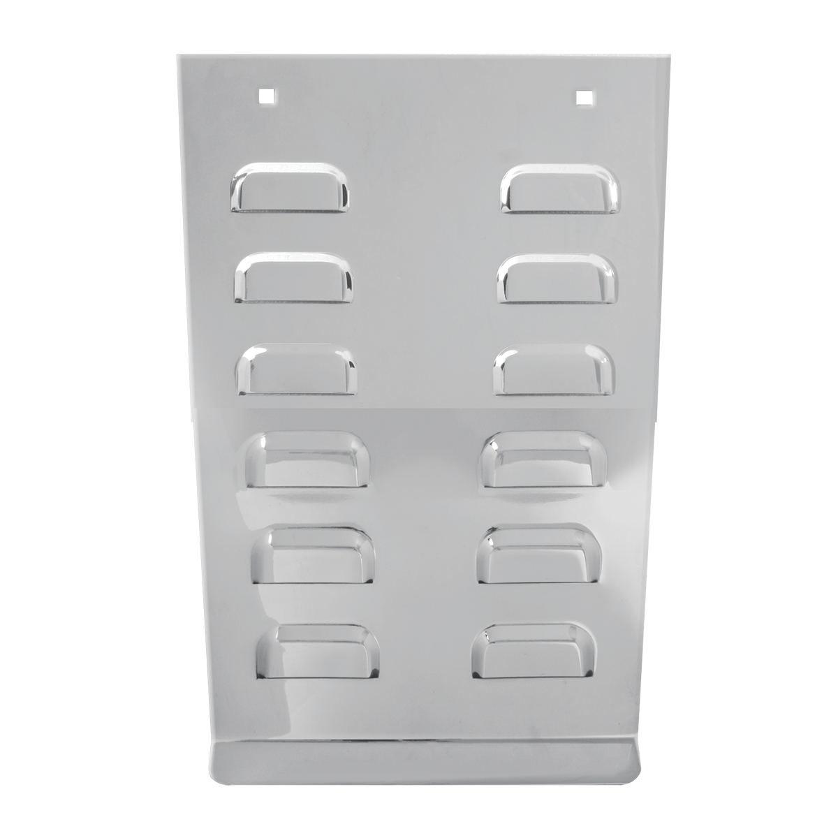 """14"""" Stainless Steel Anti-Sail Plate – Louvered"""
