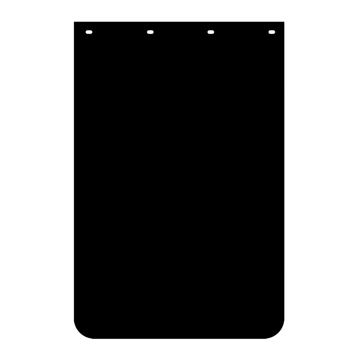 Black Plain Poly Mud Flap – Pair