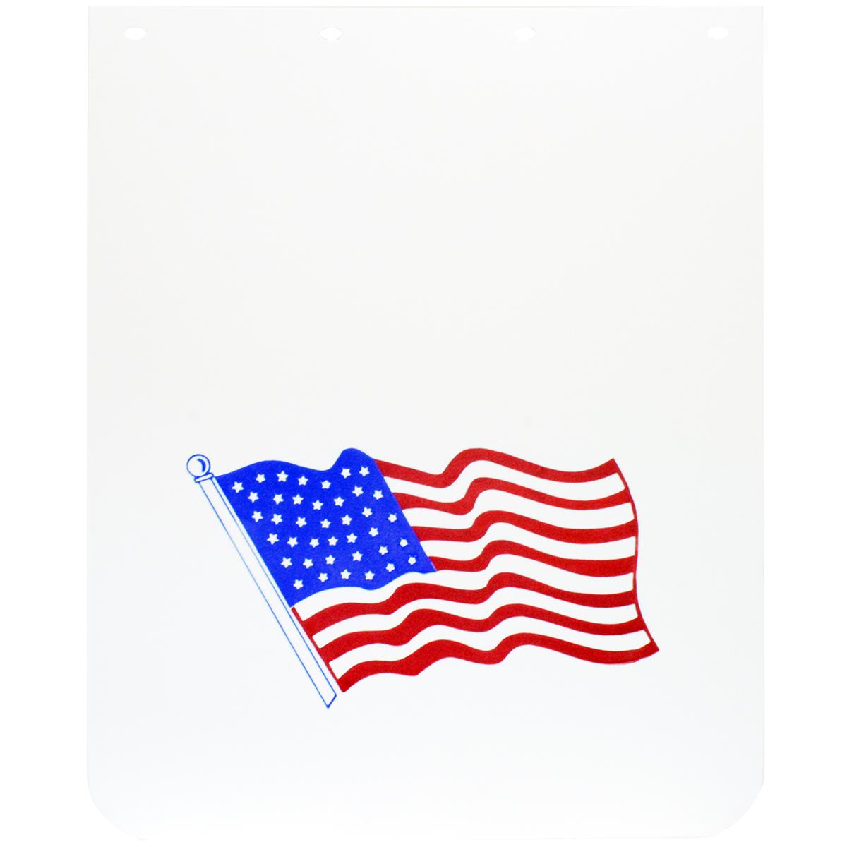 American Flag Poly Mud Flap – Pair