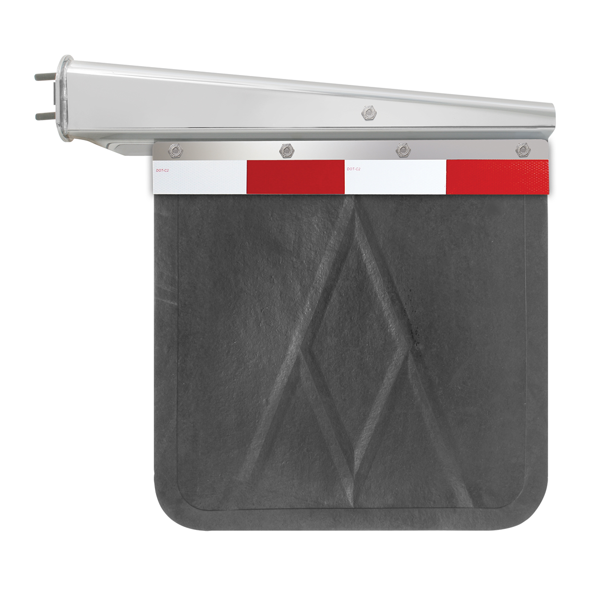 Straight Aluminum Reflector Top Plate - Mud Flap View