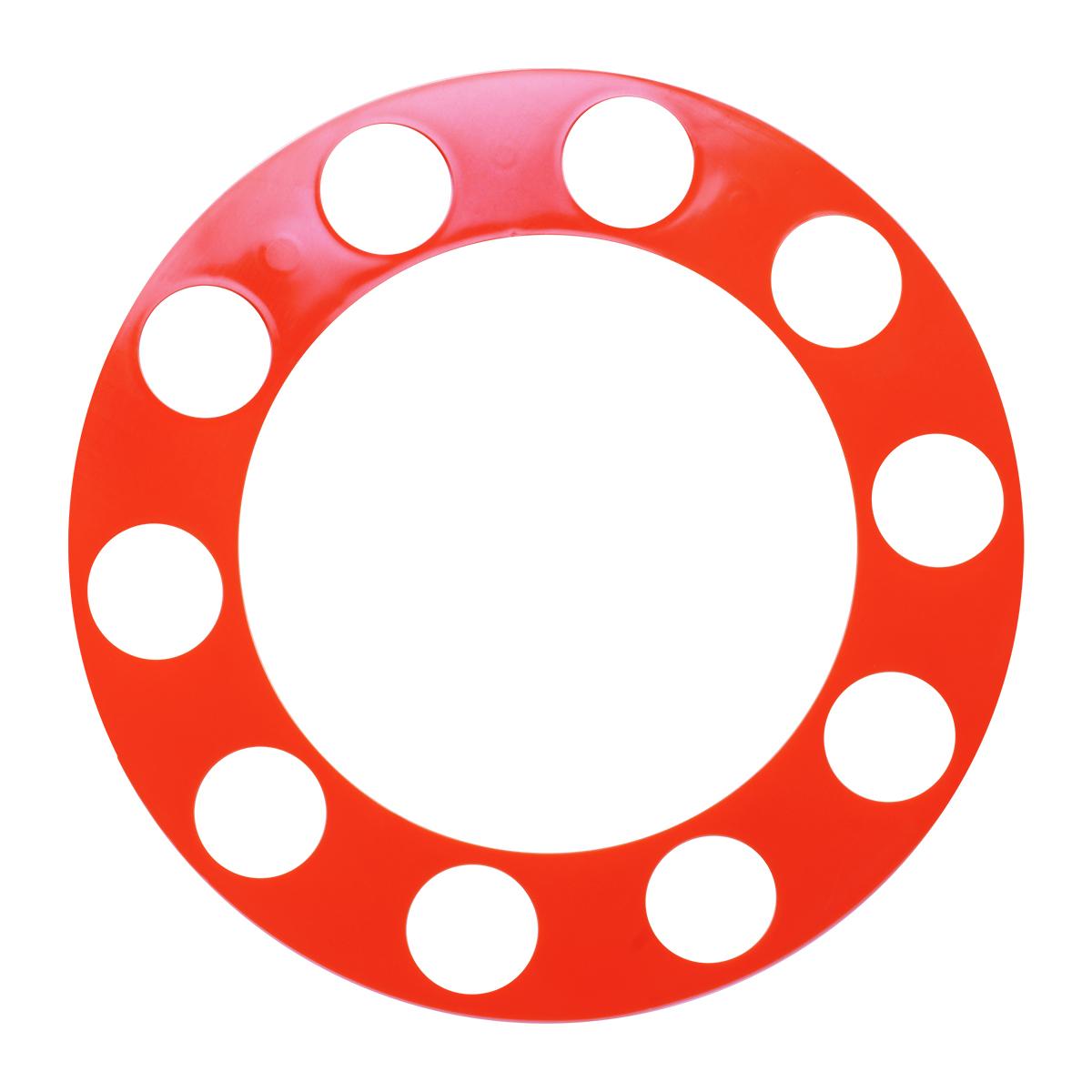Orange Rim Protector with 10 Ring Holes