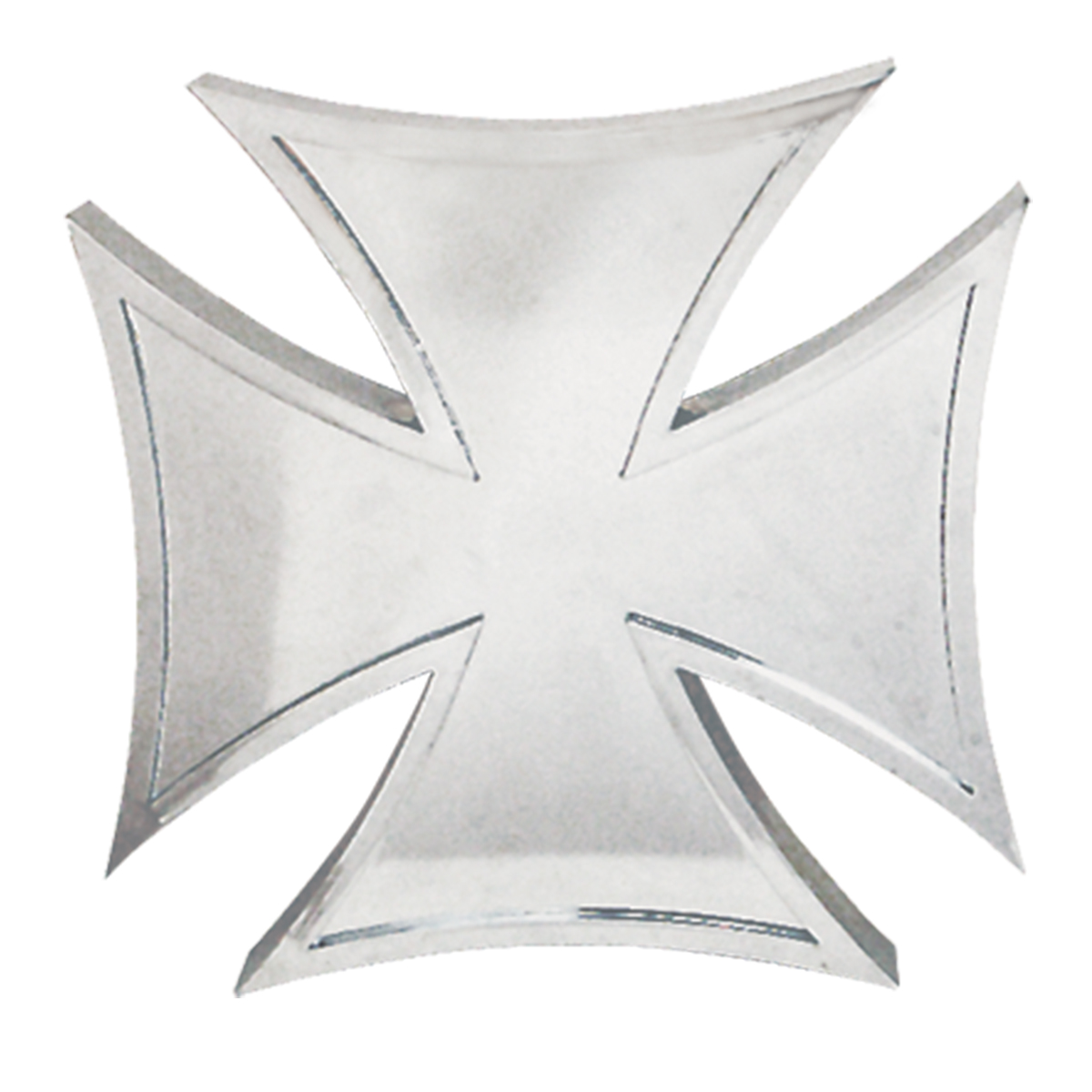 """#90051 4"""" x 4"""" Plastic Iron Cross Accent with Tape"""