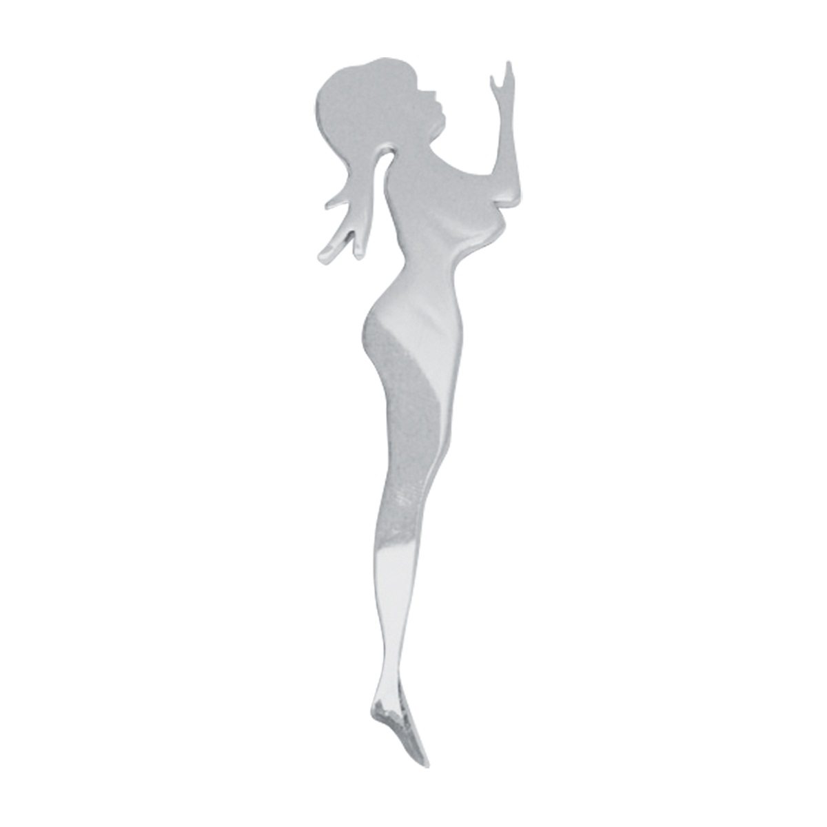 Chrome Plated Steel Standing Cut Out - Facing Right