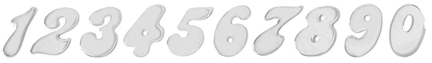 Chrome Plated Steel Number Cut Outs