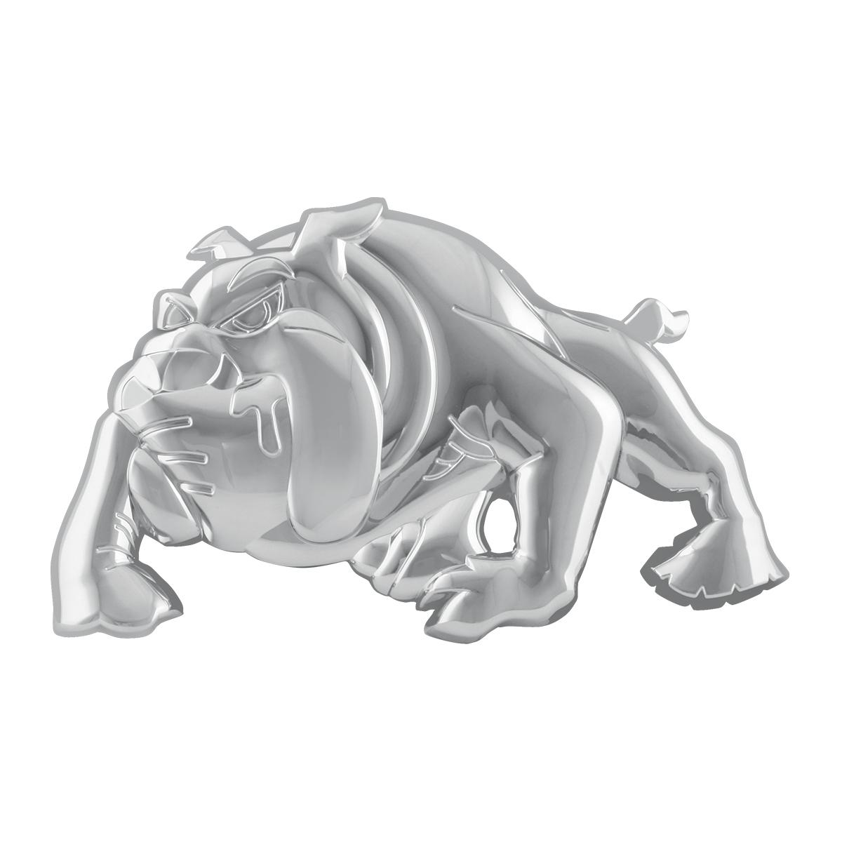 #94262 Chrome Plastic Bulldog Accent w/Tape - Facing Left
