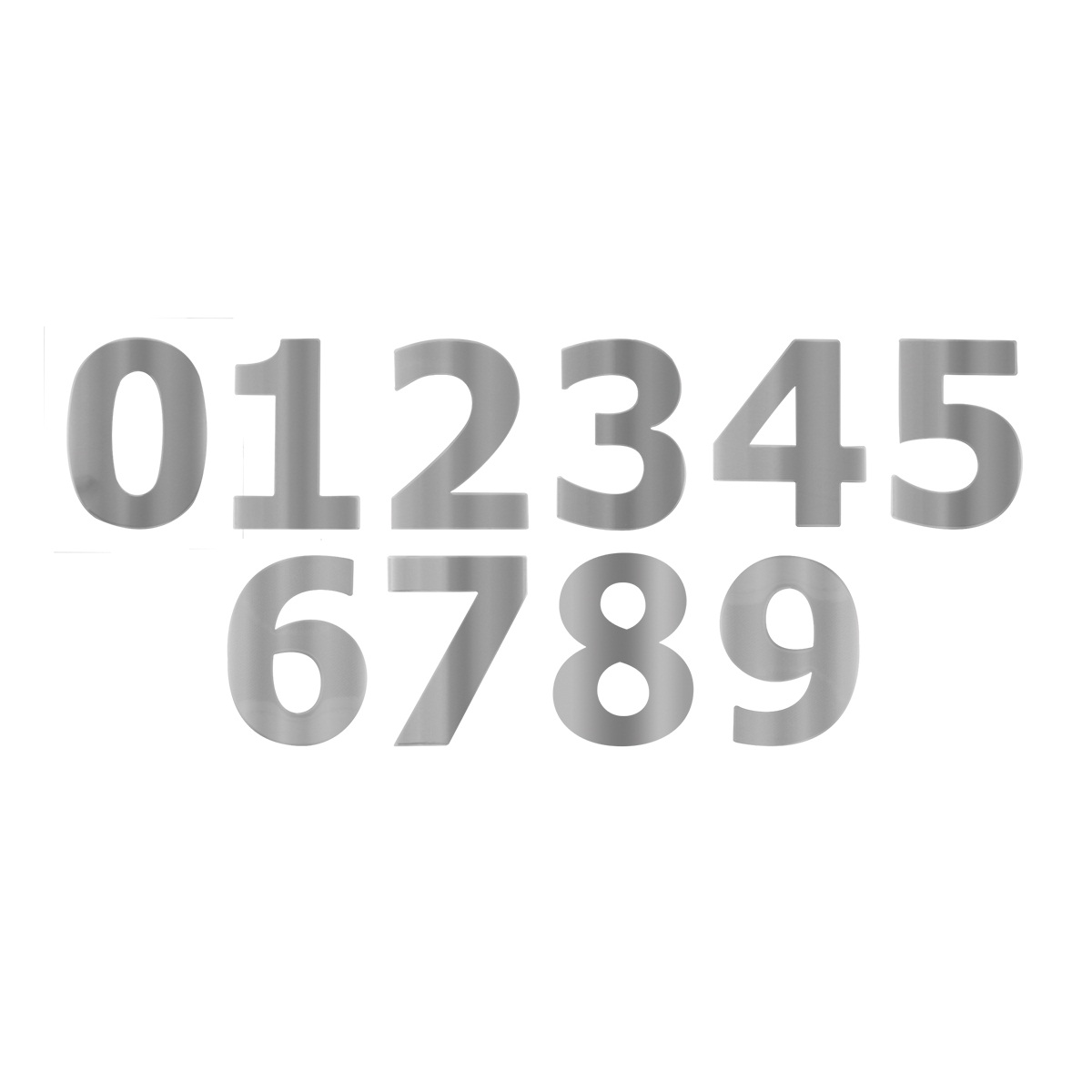 Chrome Plated/Stainless Steel Number Cut Outs