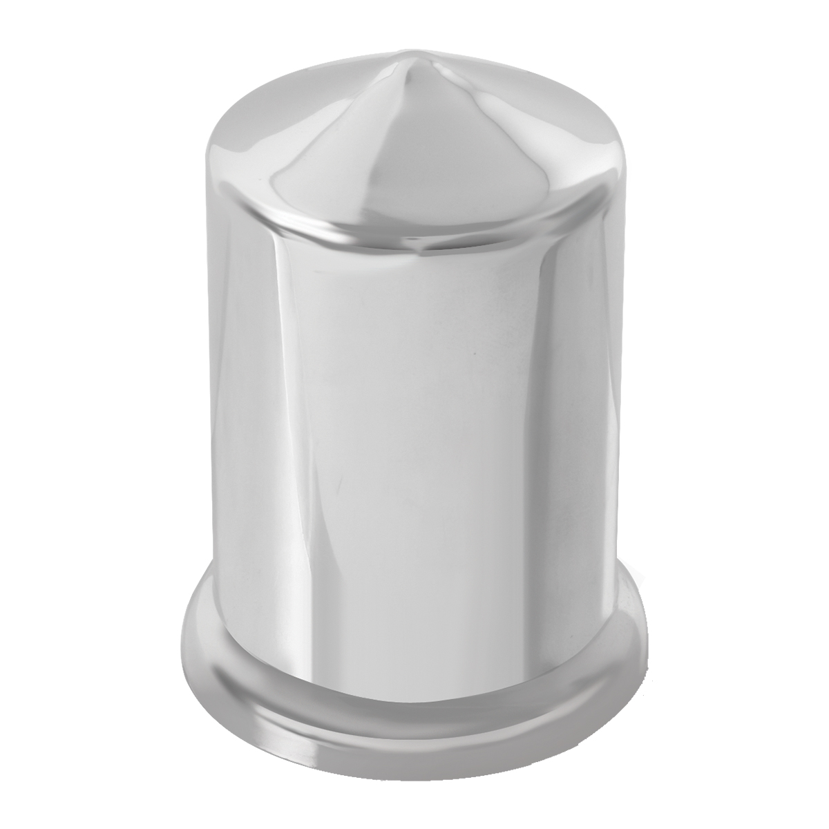 "Chrome Plastic 1 ½"" Push-On Multi-Size Round Pointed Lug Nut Cover"
