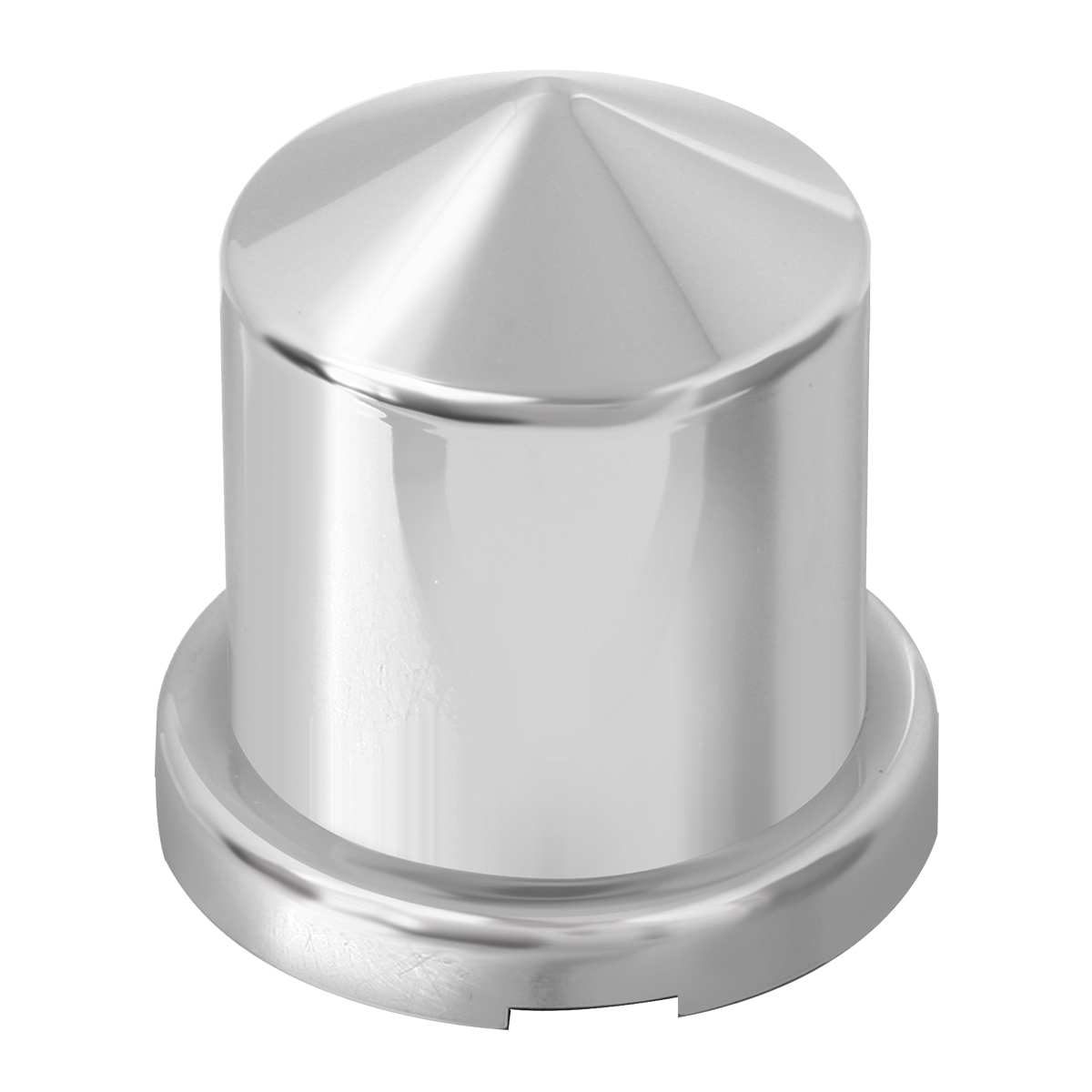 "Chrome Plastic ⅞"" & ¹⁵∕₁₆"" Push-On Multi-Size Round Pointed Lug Nut Cover"