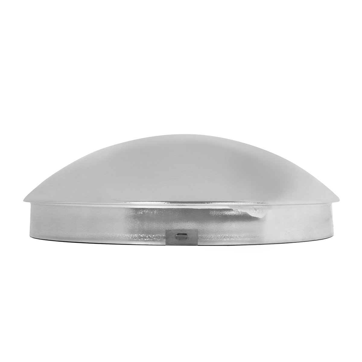 """Chrome Plated 1"""" Standard Front Hub Cap with 4 Notches"""