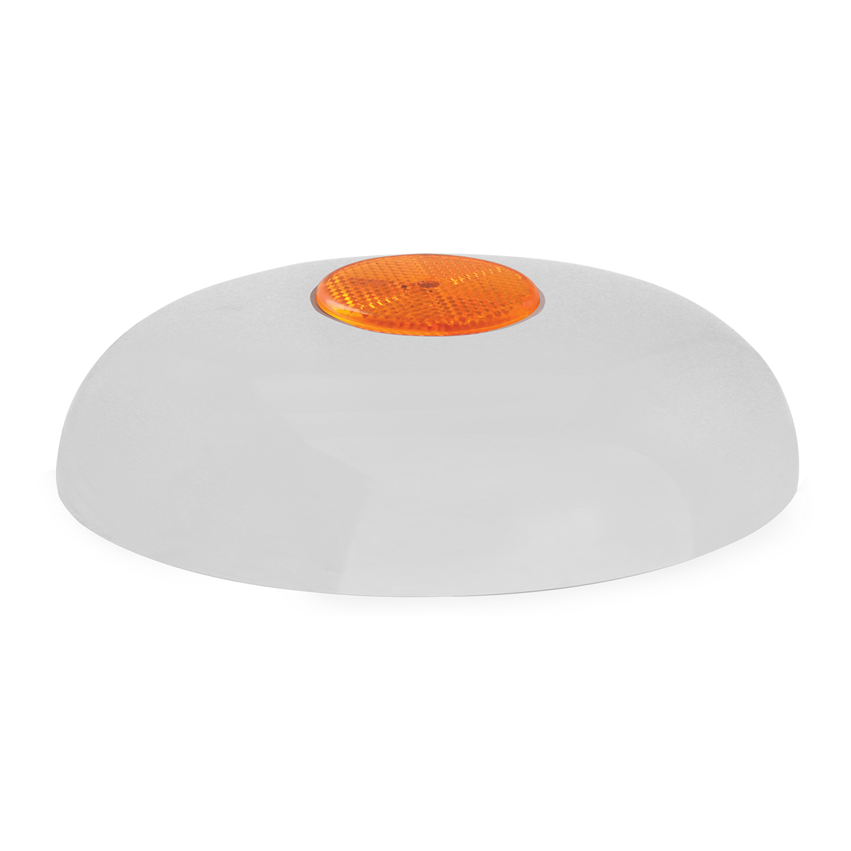 """Chrome Plated Steel Horn Cover with Amber Reflector on Center – 5 ½""""- 6"""""""