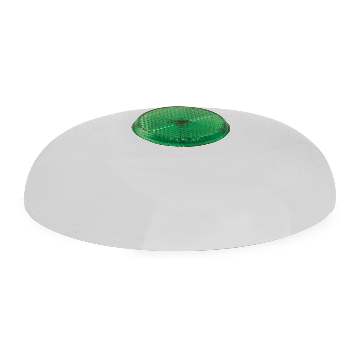"""Chrome Plated Steel Horn Cover with Green Reflector on Center – 5 ½""""- 6"""""""