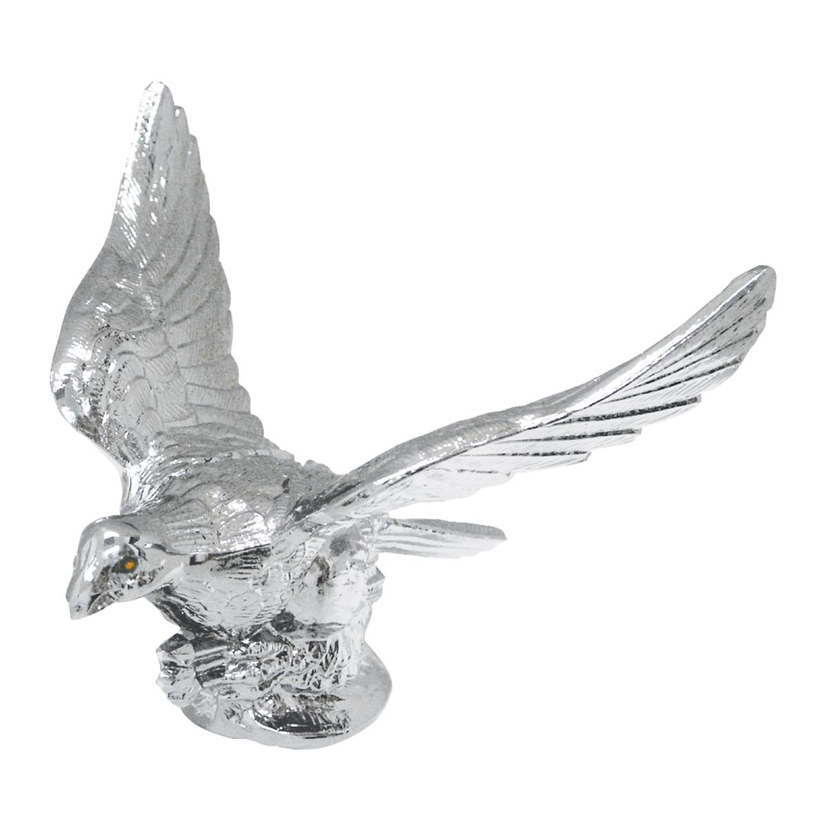 Falcon hood ornament - Flying Eagle With Illuminated Amber Eyes