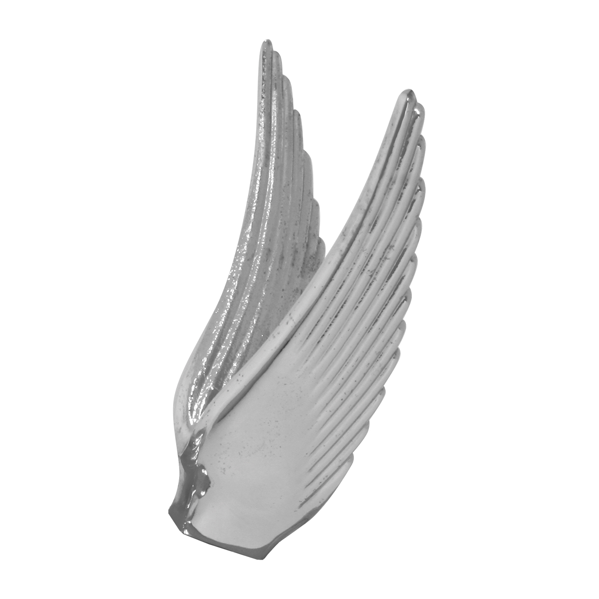 Wing hood ornament - Chrome Die Cast Flying Goddess Hood Ornament Wings Only Chrome Die Cast Flying Goddess Hood Ornament Wings Only