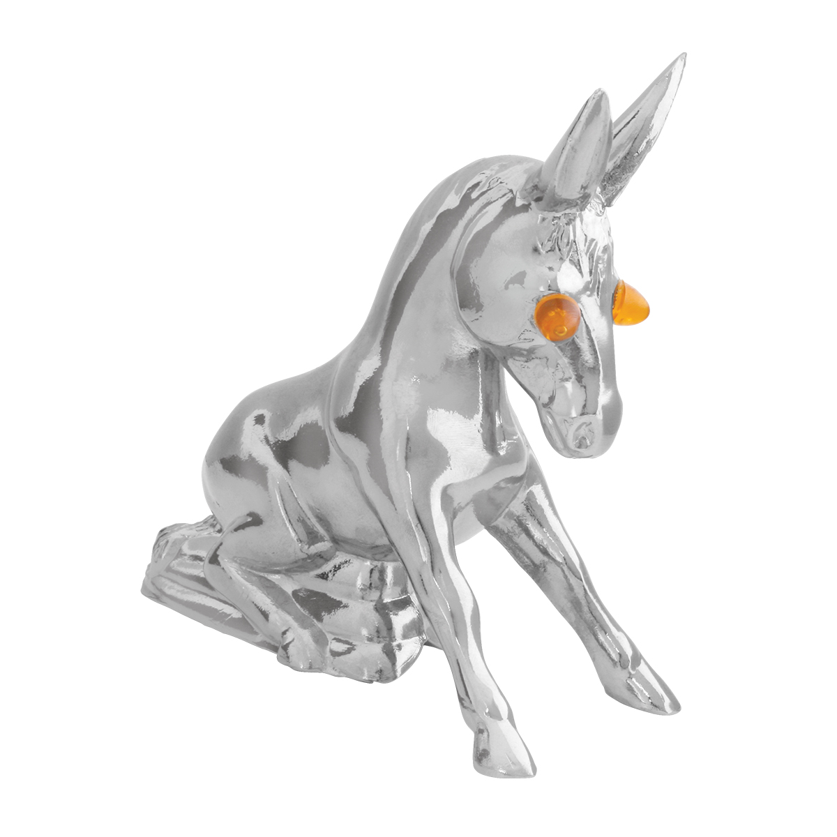 Donkey ornaments - Chrome Die Cast Novelty Donkey W Illuminated Eyes Eyes Unlit