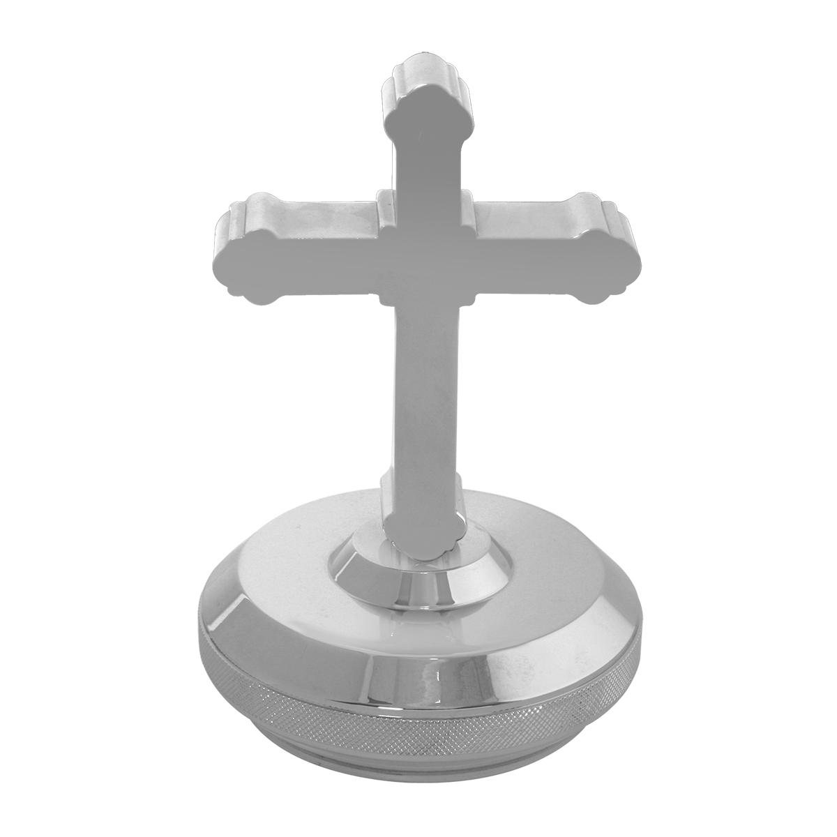 Chrome Aluminum Cross & Base Hood Ornament