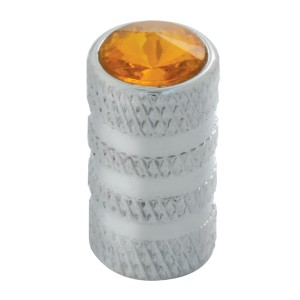 Tubular Style Tire Valve Stem Covers with Crystal on Top