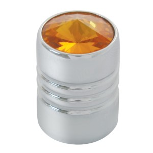 Universal Chrome Tire Valve Stem Covers with Crystal on Top