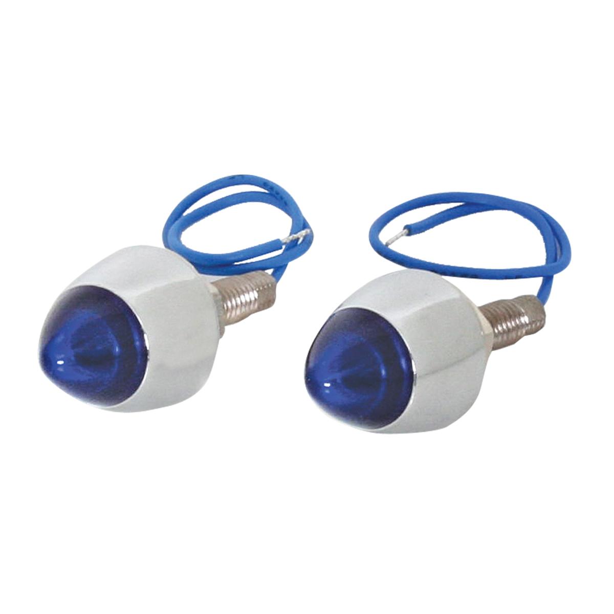 LED Lighted Bullet Fastener Set of 2 - Blue