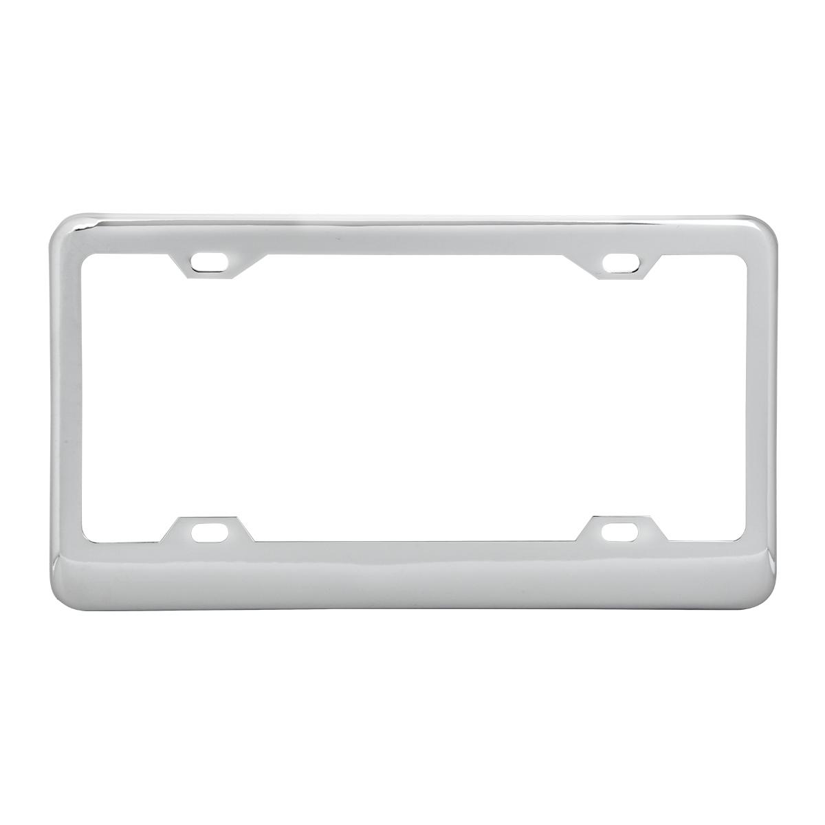 60050 Classic Chrome Plastic Steel 4-Hole License Plate Frames