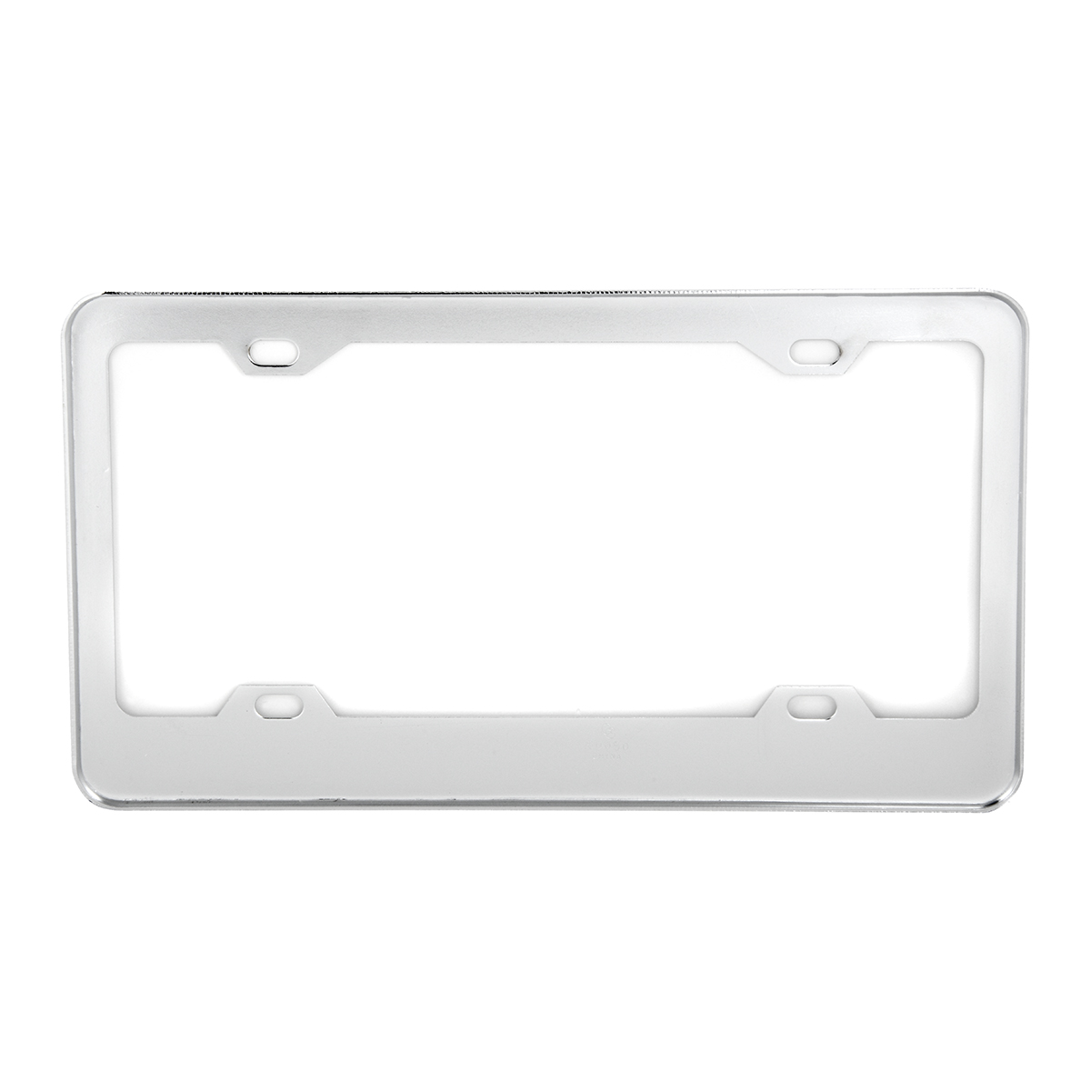 60050 Classic Chrome Plastic Steel 4-Hole License Plate Frames - Back View