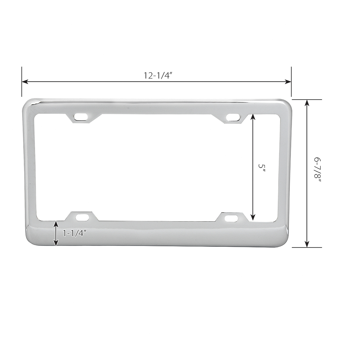 Classic 4 Hole License Plate Frames Grand General Auto