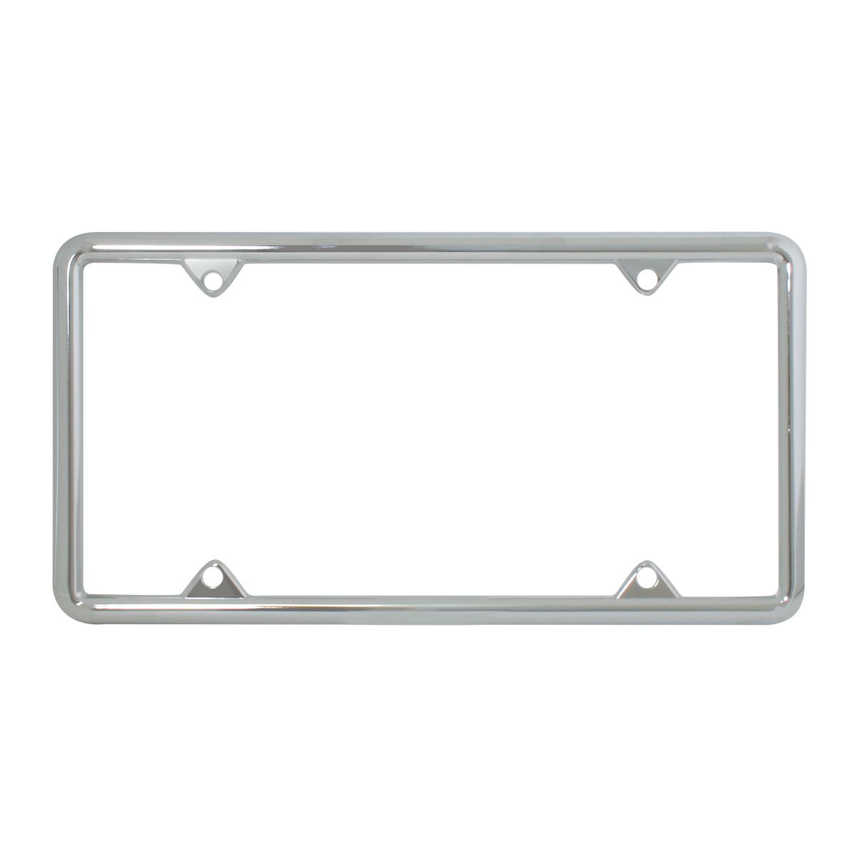 60061 Economic Chrome Zinc Classic 4-Hole License Plate Frames