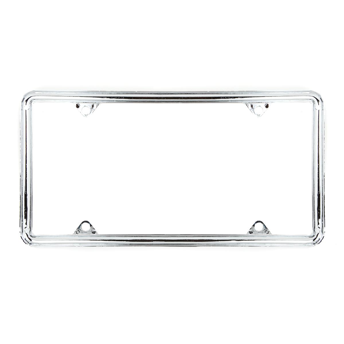 60061 Economic Chrome Zinc Classic 4-Hole License Plate Frames - Back View