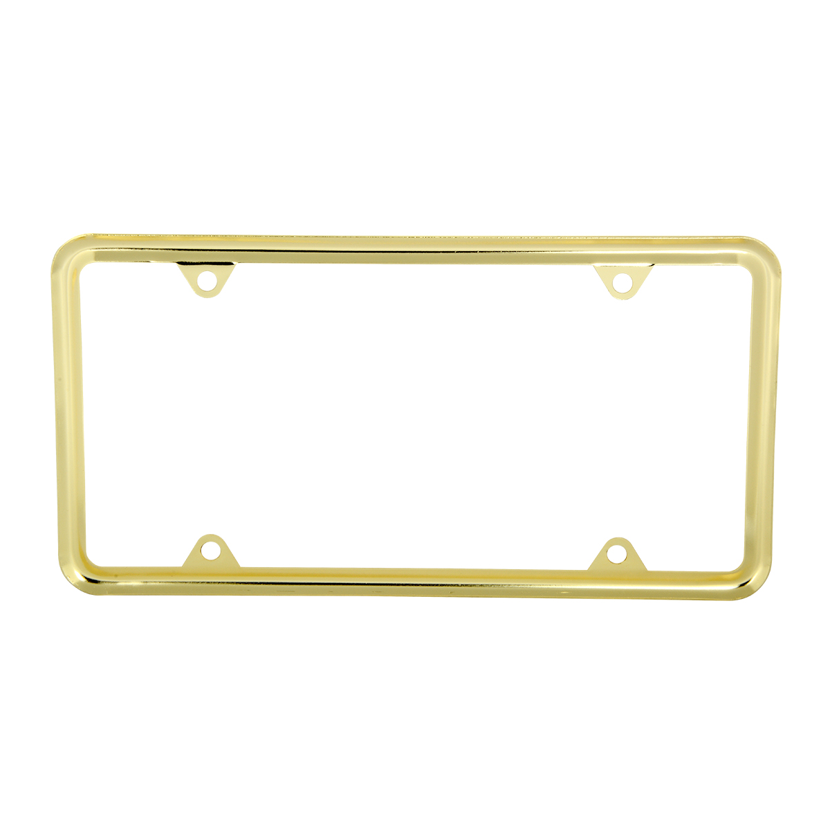 60062 Economic Brass-Plated Zinc Classic 4-Hole License Plate Frames- Back View