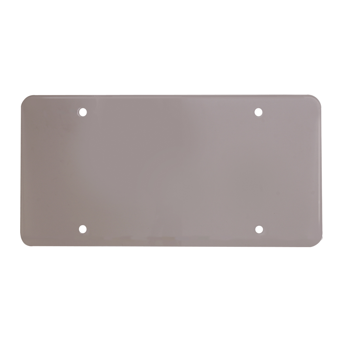 Flat License Plate Protector - Smoke
