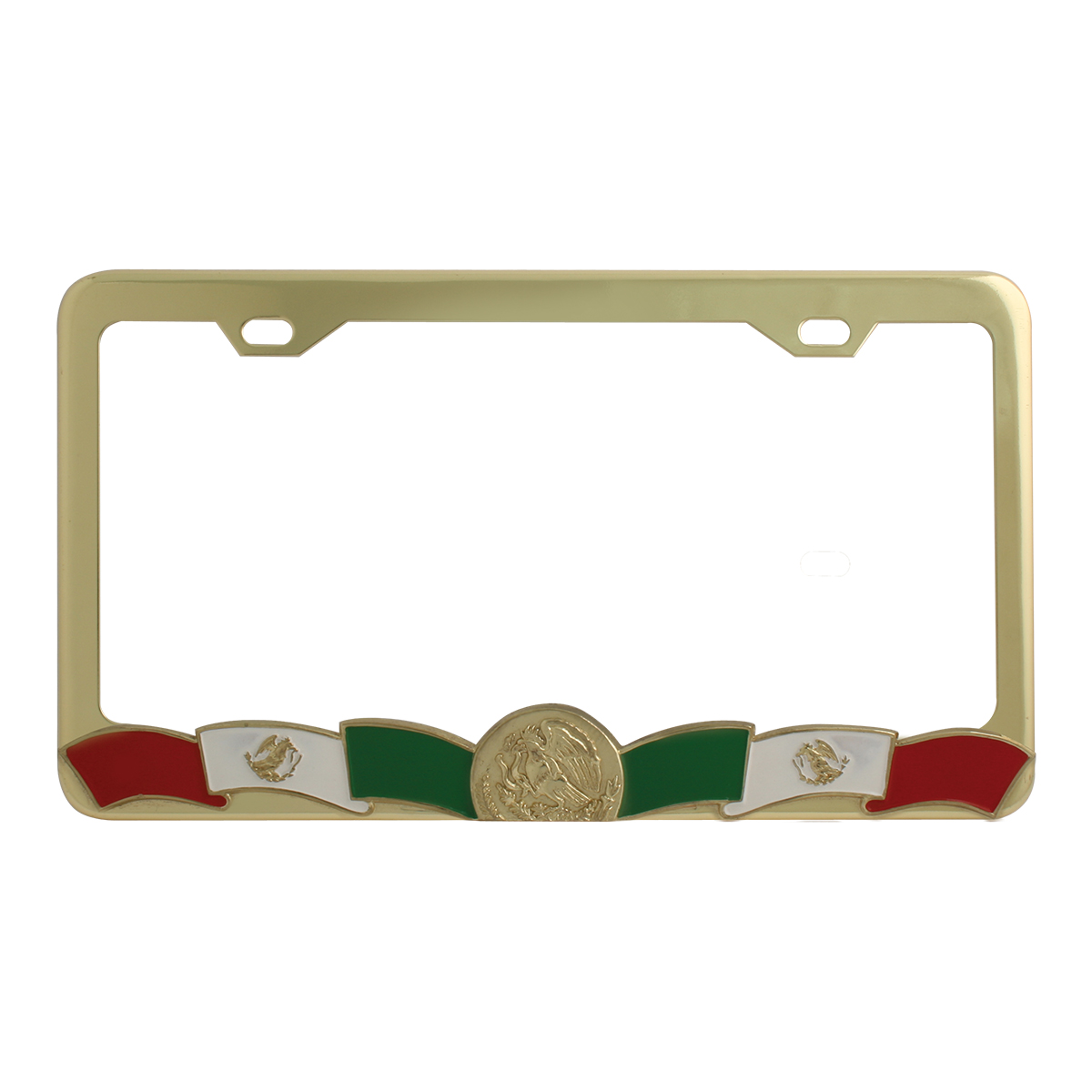 Mexican Flag License Plate Frame - 2 Holes