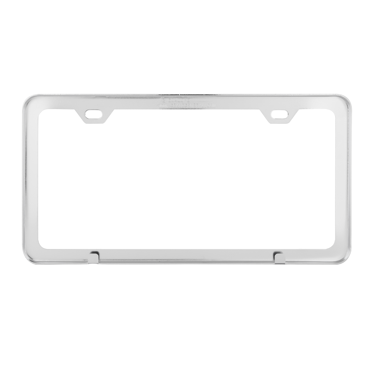 60400 Plain Chrome Plated 2 Hole License Plate Frame - Back View