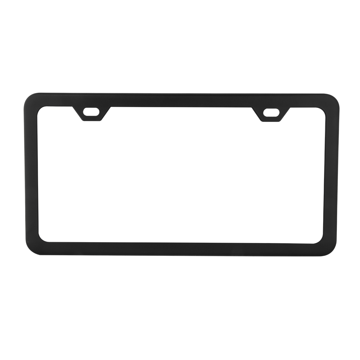 60402 Plain Matte Black 2 Hole License Plate Frame