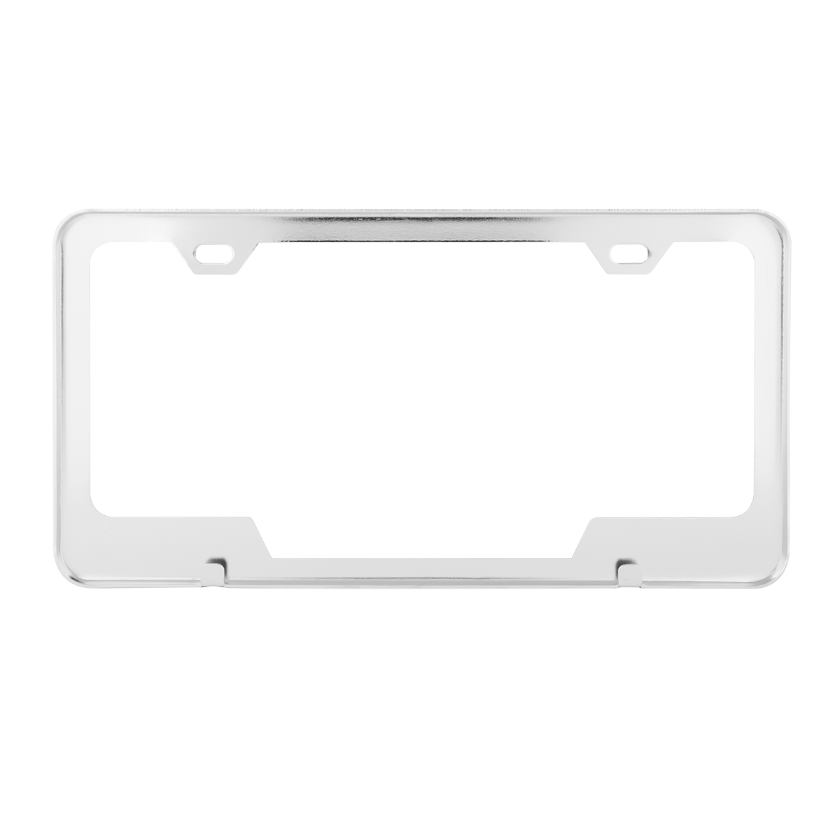 60404 Plain 2-Hole License Plate Frames with Center Cut
