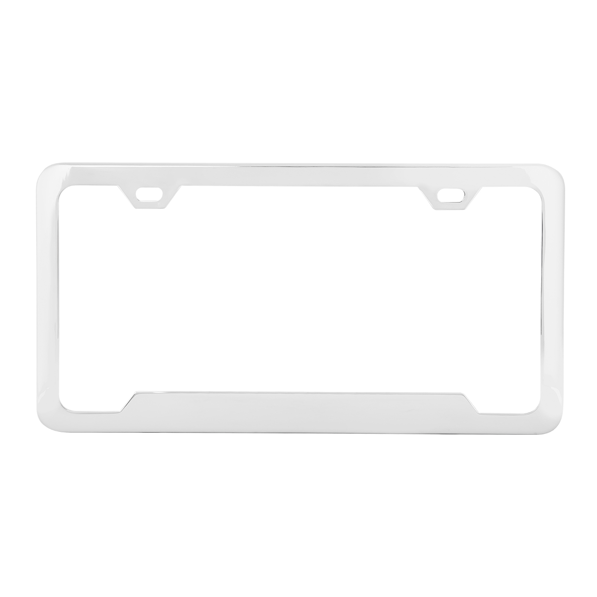 60408 Plain 2-Hole License Plate Frames with Center Raised