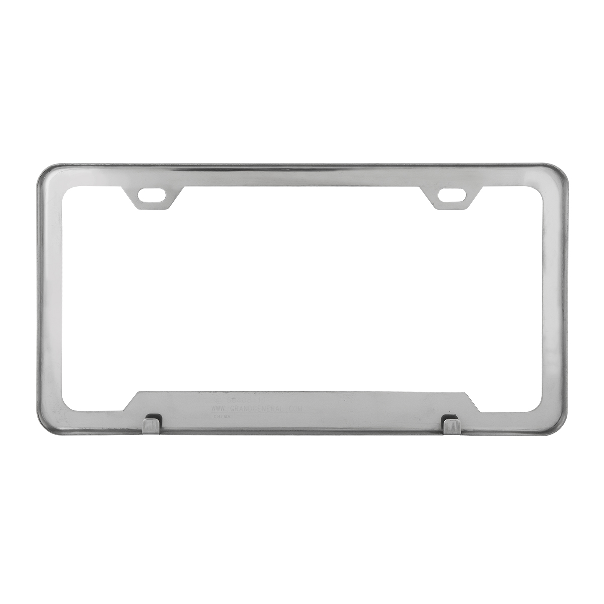 60409 Plain 2-Hole License Plate Frames with Center Raised